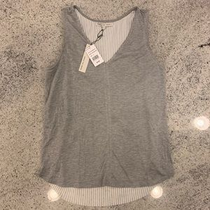 Search for Sanity Grey V-Neck Tank Top BRAND NEW